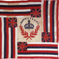 Hawaiian flag quilt, c. 1900
